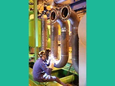 SRCI : installation tuyauterie